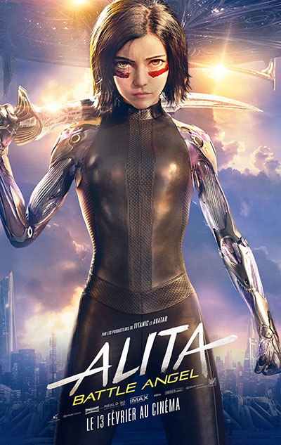 James Cameron Alita Battle Angel Poster Affiche