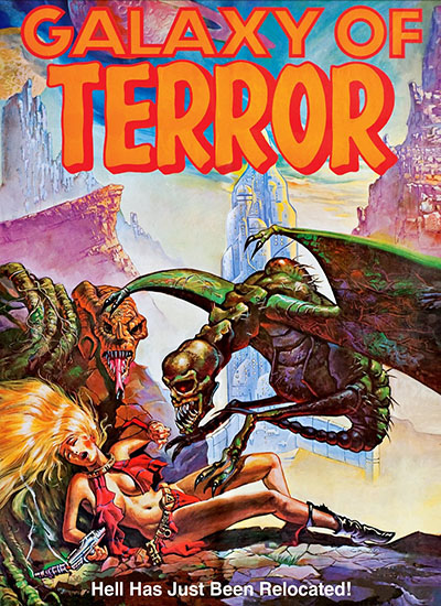 James Cameron Galaxy Of Terror Poster Affiche